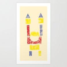 Blockitecture One Art Print