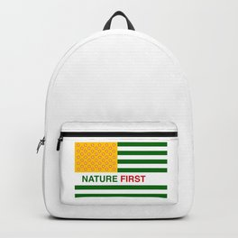 Nature First - Green Backpack