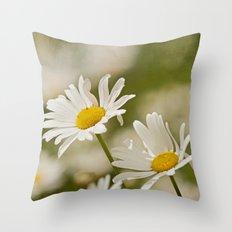 Dancing Daisies Throw Pillow