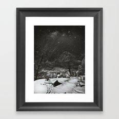 Cemetery Winter Dream Framed Art Print