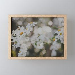 White Dreams Framed Mini Art Print
