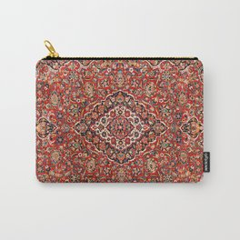 Kashan  Antique Central Persian Rug Print Carry-All Pouch