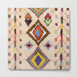 N15 - Oriental Traditional Bohemian Moroccan Artwork. Metal Print