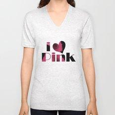 Dusky Pink Unisex V-Neck