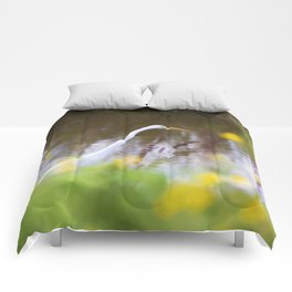 Great White Egret in the Marsh Comforters