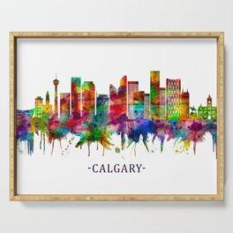 Calgary Canada Skyline Serving Tray
