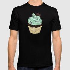 Spongy Cupcake MEDIUM Black Mens Fitted Tee