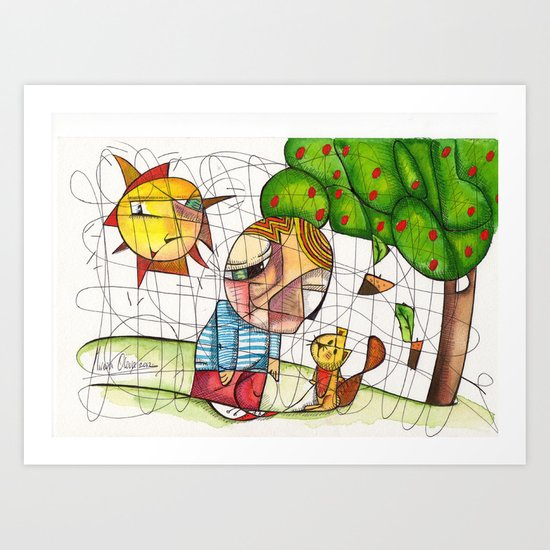 Do you want to play with me? Art Print
