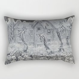 Lotus Teeth (collaboration with Kevin Newell of Evergreen Illustration) Rectangular Pillow