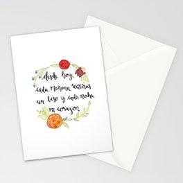 Un Beso y Mi Corazon Stationery Cards