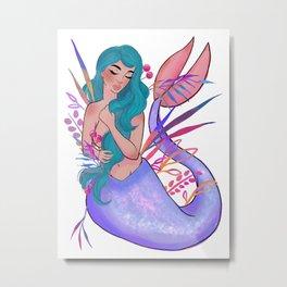 Mermaid 001 Metal Print