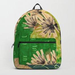 Chartreuse Vase drawing by Amanda Laurel Atkins Backpack