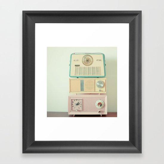 Radio Stations Framed Art Print