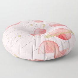 The Pink Solar System Floor Pillow
