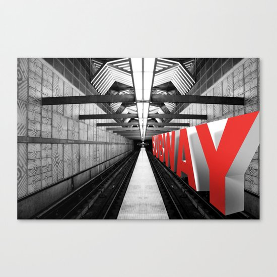 LA subway Canvas Print