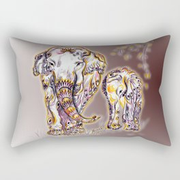 Elephant Mom Rectangular Pillow