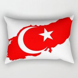 Turk Bayragi Rectangular Pillow