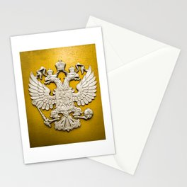 Double Headed Silver Eagle Stationery Cards
