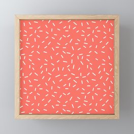Living Coral Memphis Framed Mini Art Print
