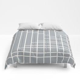 Fuzz Outline Grey Comforters