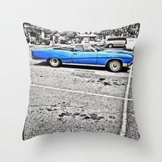 BLUE! Throw Pillow