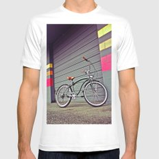 Gritty City Cruiser MEDIUM Mens Fitted Tee White