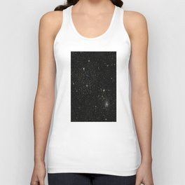 Universe Space Stars Planets Galaxy Black and White Unisex Tank Top