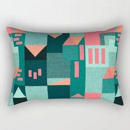 Teal Klee houses Rectangular Pillow