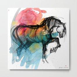Horse (Saklavi - color version) Metal Print