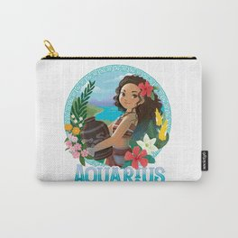 Hawaiian Girl Aquarius Carry-All Pouch