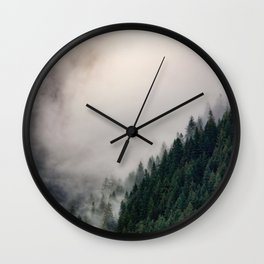Low Hanging Clouds Wall Clock
