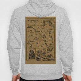 Vintage Illustrative Map of Florida (1912) - Tan Hoody