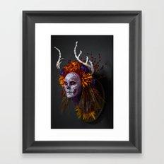 Autumn Muertita Side Framed Art Print