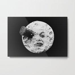 A Trip to the Moon 1902 - Artwork for Wall Art, Prints, Posters, Tshirts, Men Women Kids Metal Print