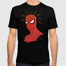 Spidey Black Mens Fitted Tee SMALL