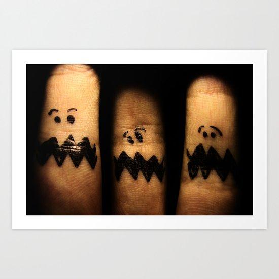 Scared Fingers Art Print