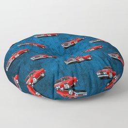 Classic Muscle Car Cartoon Floor Pillow