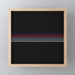 Pop Colored Fine Lines Framed Mini Art Print