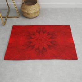 Motion through the red kaleidoscopes Rug
