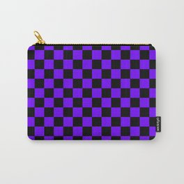 Black and Indigo Violet Checkerboard Carry-All Pouch
