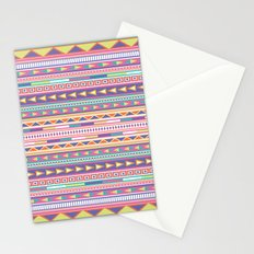 Geometric Pastel Pattern Stationery Cards