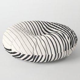Black Vertical Lines Floor Pillow