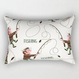 Fishing pattern of a fisherman Rectangular Pillow