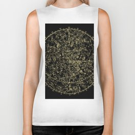 Astro Astronomy Constellations Astrologer Vintage Map Biker Tank