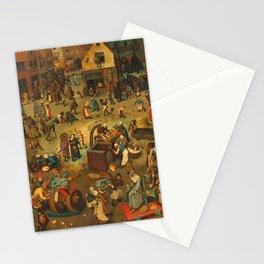 "Pieter Bruegel (also Brueghel or Breughel) the Elder ""The Fight Between Carnival and Lent"" Stationery Cards"