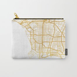 LOS ANGELES CALIFORNIA CITY STREET MAP ART Carry-All Pouch