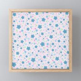 Forget Me Nots - Pink Framed Mini Art Print