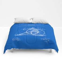 Machine Gun Patent - Blueprint Comforters