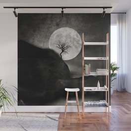 The Moon and the Tree.. Wall Mural