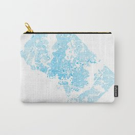 Washington DC Blue Building Map Carry-All Pouch